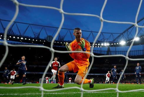 De Gea, en el primer gol del Arsenal.