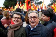 El ex ministro Juan Ignacio Zoido en la manifestación de Colón (Madrid) contra Pedro Sánchez.
