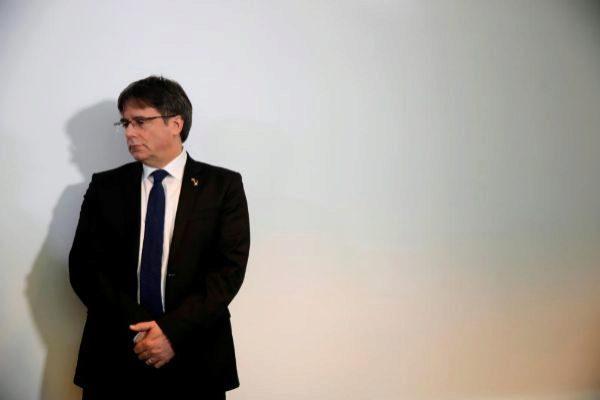 El ex presidente catalán Carles Puigdemont, en un acto en Berlín