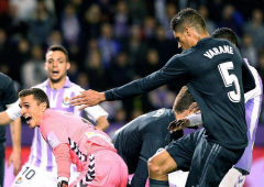 El Real Madrid toma aire con una goleada en Valladolid