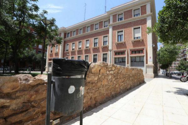 La parte trasera de la Subdelegación del Gobierno en Castellón.
