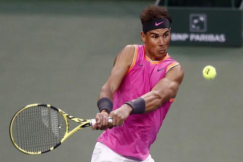 LWS153. Indian Wells (United States), 10/03/2019.- Rafael <HIT>Nadal</HIT> of Spain in action against Jared Donaldson of United States during the BNP Paribas Open tennis tournament at the Indian Wells Tennis Garden in Indian Wells, California, USA, 10 March 2019. The men's and women's final will be played, 17 March 2019. (Tenis, Abierto, España, Estados Unidos) EPA/