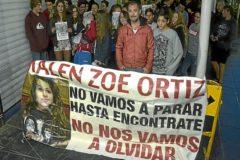 Concentración en 2014 por la desaparición de Malén Ortiz, con el padre de la menor al frente.