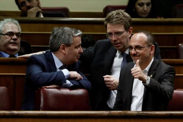 Los diputados del PDeCAT Jordi Xuclà, Ferran Bel y Carles Campuzano.