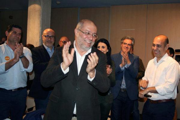 Francisco Igea, candidato de Ciudadanos a las primarias en Castilla y León, durante un acto de la campaña.