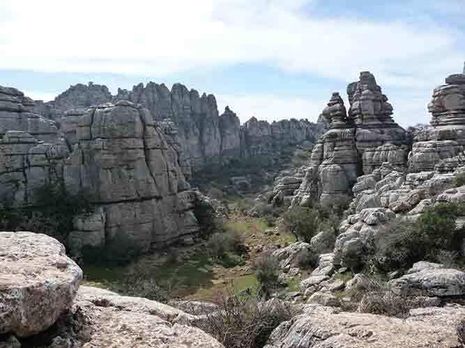 Paisaje de El Torcal, uno de los monumentos naturales más fascinantes de Europa.