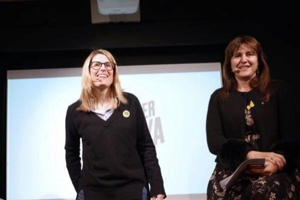Elsa Artadi y Laura Borràs, las consejeras salientes.