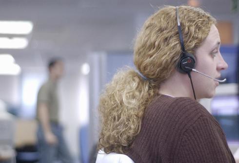 Una trabajadora de un 'call center'.