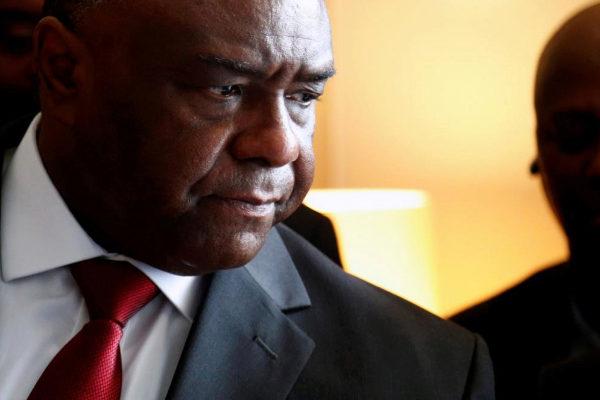 Jean-Pierre Bemba, en julio de 2018, en una rueda de prensa.