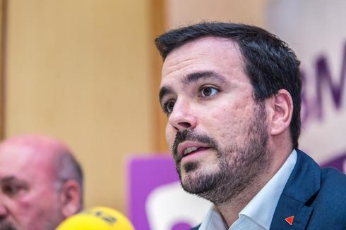 El coordinador federal de IU, Alberto Garzón, en un acto en Murcia
