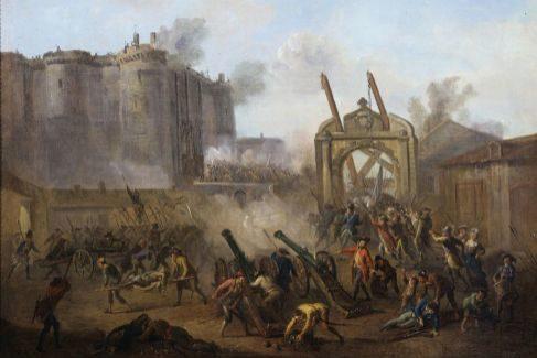 'La toma de la Bastilla, el 14 de julio de 1789', por Jean-Baptiste Lallemand, París, Museo Carnavalet.