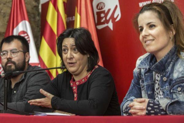 Esther López junto a Rosa Pérez en un acto en Valencia.