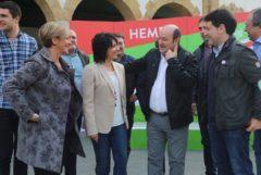 Ortuza y Atutxa con candidatos del PNV a municipales y forales de la zona Nervión Ibaizabal.
