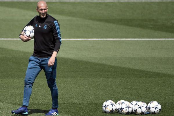 Zidane, en Valdebebas, en una imagen del pasado mayo.