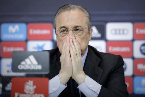 Florentino Pérez, el día en que Zidane anunció su dimisión.