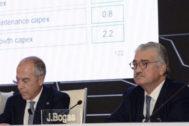 Los consejeros delegados de Enel, Francisco Starace (izquierda), y de Endesa, José Bogas.