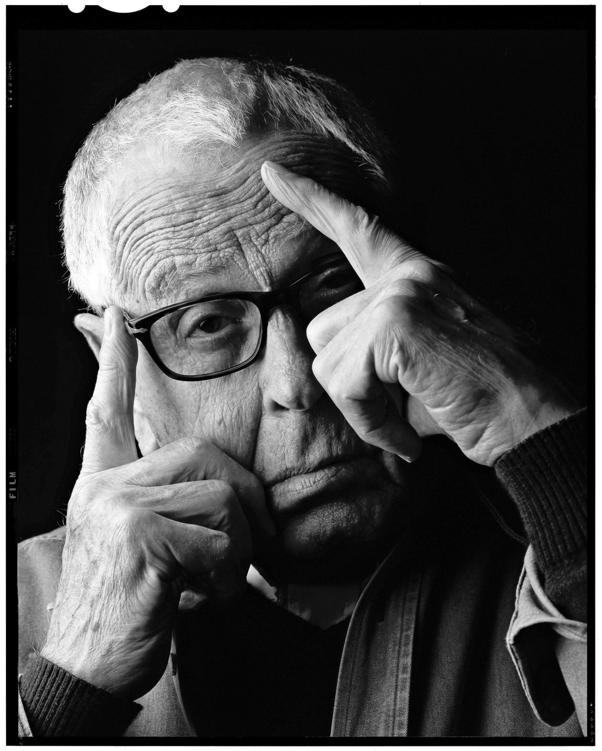 El escultor Martín Chirino (Las Palmas, 1925- Madrid, 2019).