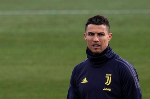 Cristiano, durante un entrenamiento con la Juventus.
