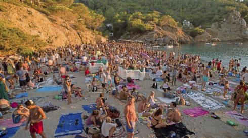 Playa de Benirrás, en la isla de Ibiza.