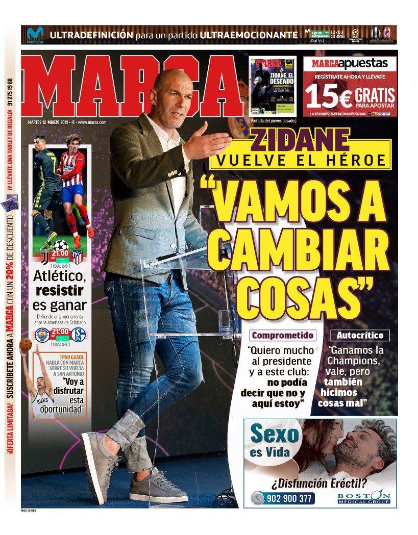 Las portadas de los periódicos del 12 de marzo