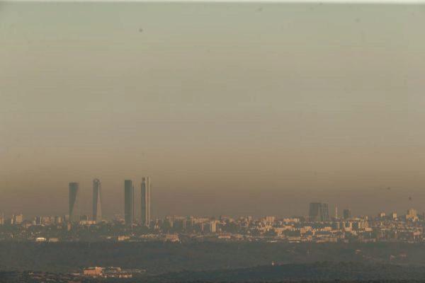 Contaminación atmosférica en Madrid.