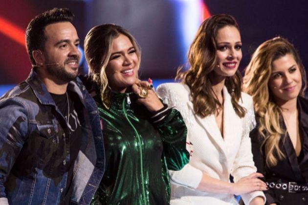 Luis Fonsi, Karol G, Eva González y Miriam Rodríguez en las primeras batallas de La Voz en Antena 3