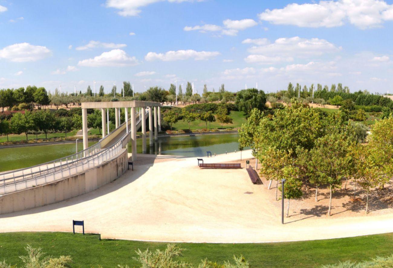 Gigante espacio verde madrileño junto a la Feria de Madrid que...