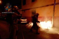 Investigan la quema de otros siete contenedores en Palma