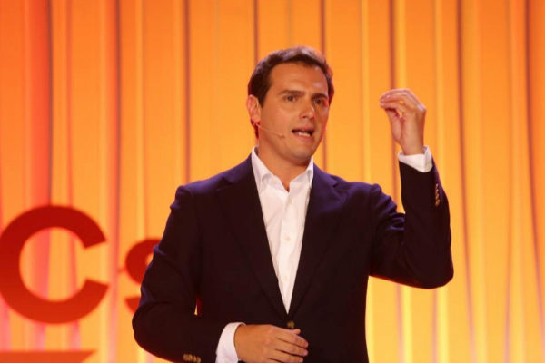 Albert Rivera, líder de Ciudadanos, durante un acto en Madrid.