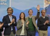 Casado, junto a Oyarzábal, Comerón y Alonso en un acto en Vitoria.
