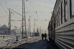 Una parada técnica del Transiberiano a las afueras de Irkutsk.
