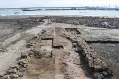 Restos del astillero navaL recién descubierto en la península del Sinaí.