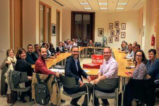 Reunión de la Ejecutiva de los socialistas de Palma celebrada en la tarde de ayer.