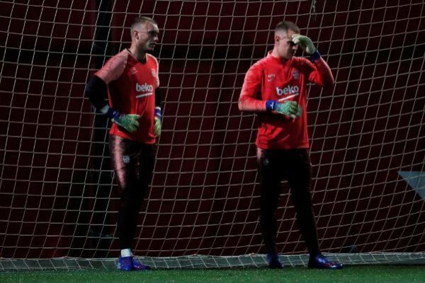 Cillessen y Ter Stegen, porteros del Barcelona.