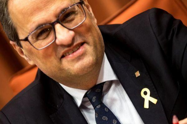 GRAFCAT5532. BARCELONA.- El presidente de la Generalitat, Quim Torra,...