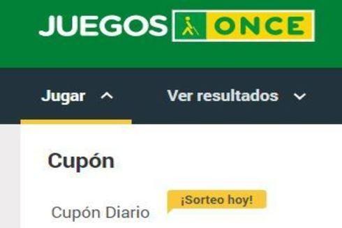 ONCE: sorteo del Cupón diario del martes 12 de marzo de 2019
