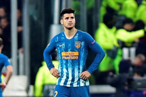 Morata, decepcionado tras la eliminación del Atlético.