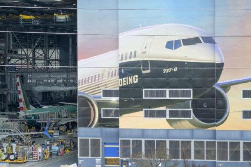 Un hangar de Boeing en la sede de la compañía en Renton (Washington).