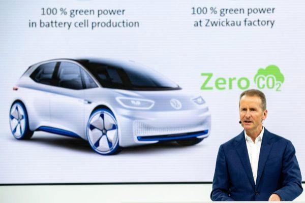 Herbert Diess, CEO del Grupo VW, durante la presentación de resultados.