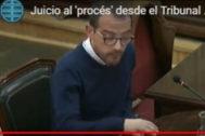 Jaume Mestre, durante su declaración en el Supremo.