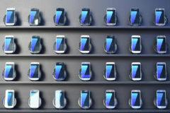 Distintos teléfonos móviles de la marca surcoreana Samsung.