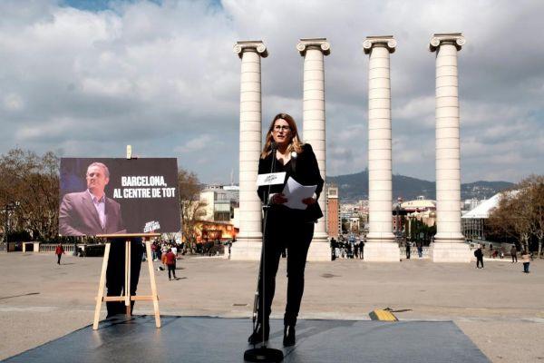 Jordi Soteras Catalunya Barcelona 12/03/2019. Rueda de prensa de Elsa <HIT>Artadi</HIT>. Neus Munte y la mujer de J.Forn Laura Masvidal para presentar la candidatura de JXCAT a la alcaldia de Barcelona Foto Jordi Soteras