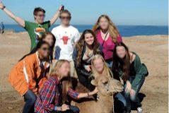 Gabrielle Vega, durante el viaje a Marruecos en el que supuestamente fue violada.