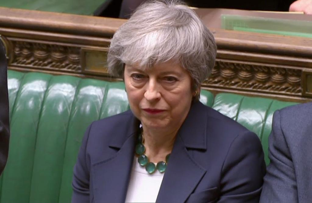 La 'premier' Theresa May, este miércoles en Westminster.