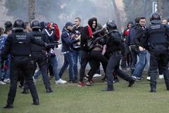 6 detenidos y varios heridos en una pelea entre ultras del Barça y el Lyon