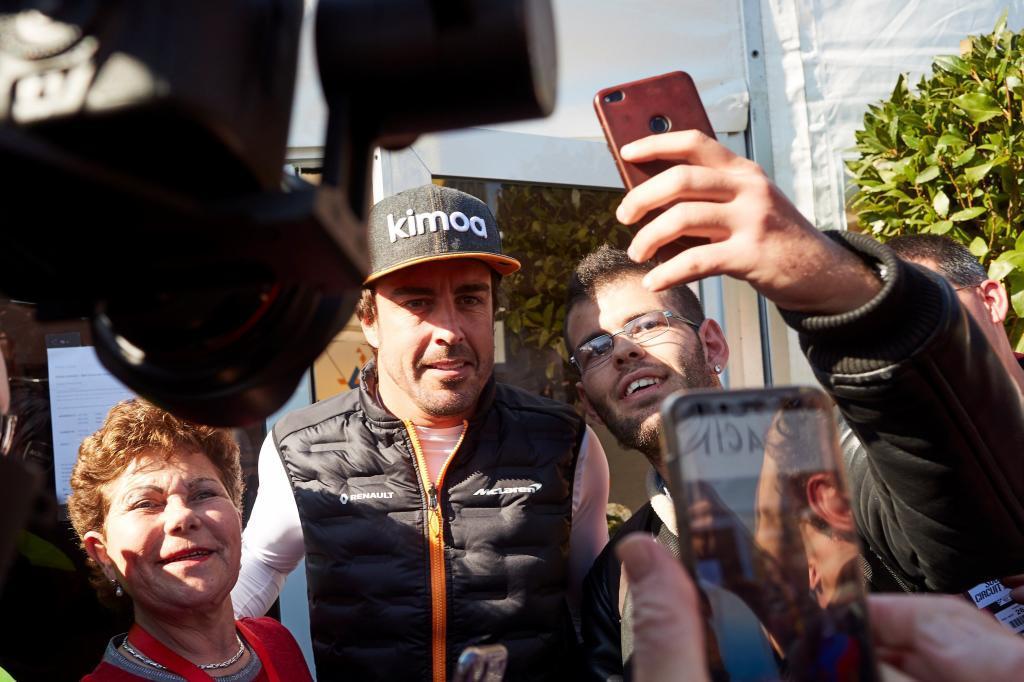 Alonso, durante los test en Montmeló hace unas semanas.