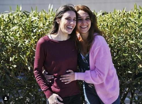 La imagen con la que Irene Montero anunció en Instagram que está embarazada de una niña.