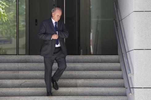 El juez Manuel García Castellón, a la salida de la Audiencia.