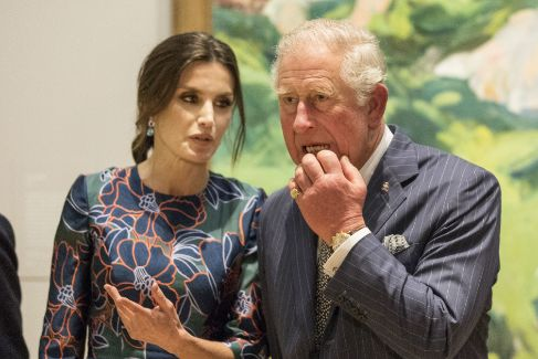 LONDON, ENGLAND - MARCH 13: Prince Charles, Prince of Wales and Queen <HIT>Letizia</HIT> of Spain attend the opening of 'Sorolla: Spanish Master of Light' at the National Gallery on March 13, 2019 in London, England. (Photo by Jeff Gilbert - WPA Pool/Getty Images)