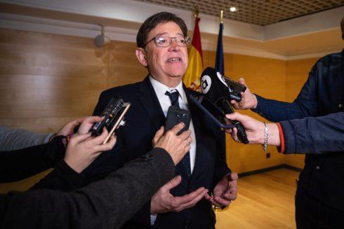 El presidente Ximo Puig, en una comparecencia.